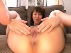 She shows off her old lady panties and takes them off to fi