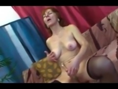Granny showing some blowjob skills at her age