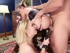 sexy babes are getting their asses drilled