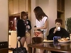 Sensual Japanese mom in lingerie expresses her passion for