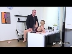 Sensual schoolgirl gets seduced and fucked by her older lecturer