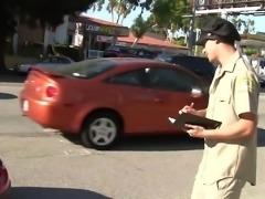 Busty Casey Cumz Beats Parking Ticket