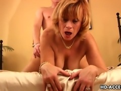 Mature Slut Gets Hard Cock In Her Shaved Pussy Wild And Hard