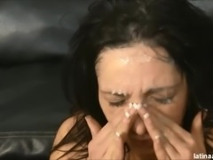 Vannah Sterling creamed after rough anal and throat fuck