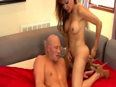 Tranny hooker cums mouth