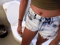 sexy selena deepthroats my dick for money