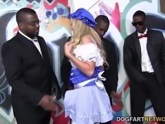 Callie Cobra Interracial Gangbang