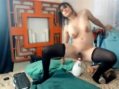 Naughty Babe Fucked Herself With Massive Toys