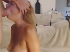Blonde Milf Rough Face Fuck