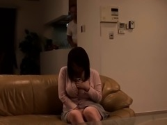 Busty asian teen playing with boobs and pussy