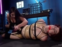 Tastes differ and Ingrid Mouth is the living proof of this. Ingrid prefers wet pussies to dicks, rough treatment - to gentle caresses. So join us at Electro Sluts and enjoy this electo bdsm sex session, in which Lea Lexis dominates her and gives her some real orgasms and real shocking. Hot stuff!