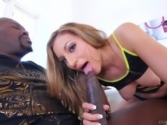 How deep will she be able to fit Lex's huge cock inside her tight pussy? Will she be able to fit the whole thing in? This naughty and erotic babe loves to have her cunthole spread and stretched by big black cock. It gets in there so deep that you won't believe it.