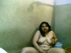 Amateur ugly as shit really fat Latina bitch flashed her fat body in dirty toilet