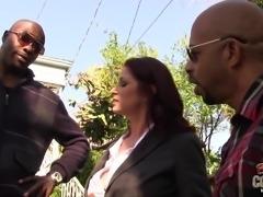 Goddess Tiffany Mynx Gets DP By Two Big Black Cocks