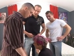 granny whore takes care of her men @ we wanna gangbang your grandma #02