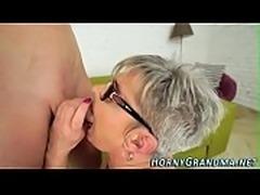 Bj loving grandma facial
