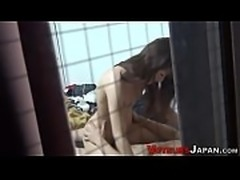 Asian babe spied fucking
