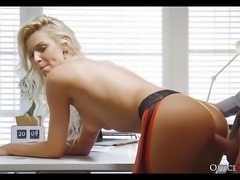 Perfect Tits Blonde Babe Fucked In The Office