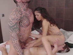 Wild bitch Mey Madness loves nothing but hardcore MFF threesome with stud