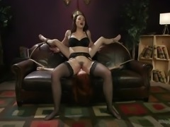 Hot brunette dominatrix, Chanel Preston, really knows how to deal with obstinate and disobedient sex slaves. At first she generously tickles them with her leather lash, then she invites them to taste her juicy pussy. Enjoy lesbian ass spanking, bondage, punishment & hardcore sex!
