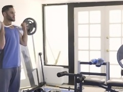 Her stepbro loves to work out, and this turns her on very much. She likes watching him work out and get stronger every day. She has had a crush on him for so long and she can't take it anymore. He puts her against the wall and they fuck hard.