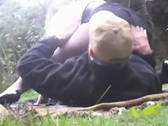 Public slut amateur gangbang