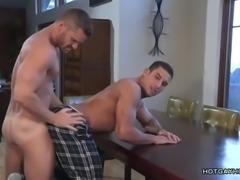 muscled white dude fucks black ass