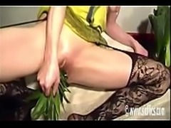 Bellas giant pineapple fuck