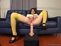 Japanese hairy girl masturbating and squirting at datingsolo.com