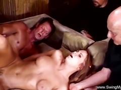 Ugly Redhead Swinger Wife