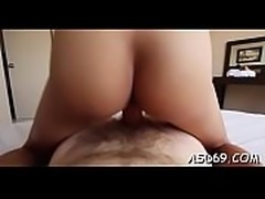Babes disrobes to play with dong