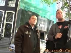 Dutch hooker gets cumshot
