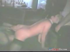 Sexy brunette slut loves to suck big cocks