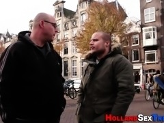 Dutch hooker takes cum