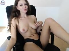 Exotic amateur ebony babe hot solo with dildo