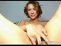 Claire masturbates furiously on cam for us all