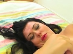 Curvy big breasted British mature mom getting wild