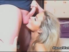 Blonde Slut Showing Of Her Cocksucking Skills