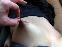 Busty Japanese milf gets her hairy beaver toyed and fucked