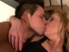 Big boobs blonde milf drilled hard