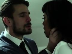 Brunette milf spanking with cumshot