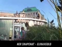 public park upskirt flash her snapchat - elinaxgold