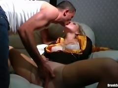 blonde slut gets finger fucked in the vip room