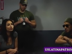 Skinny petite Latina fucked roughly by a Patrol Officer
