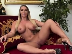 Naughty friends know how to use a dildo
