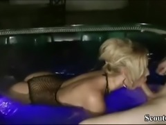 German MILF seduce Young Boy to Fuck in Whirlpool