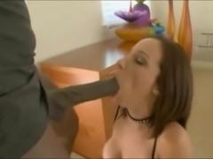 Hot Ass Brunette Takes Big Black Cock