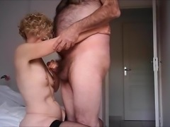 Ejac on Other Nure's small tits for hidden cam