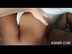 Super luscious asian babe finds herself sitting on a cock