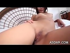 Slender asian beauty likes to show her lean body on web camera